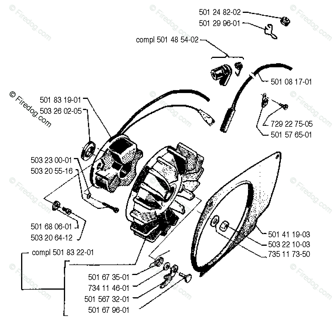 Husqvarna Chain Saw 2101 (1990-06) OEM Parts Diagram for
