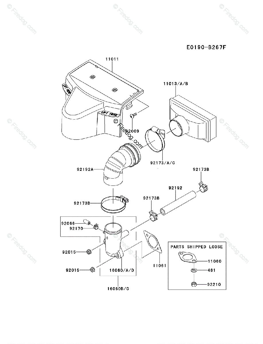 Kawasaki 4 Stroke Engine FR600V OEM Parts Diagram for AIR