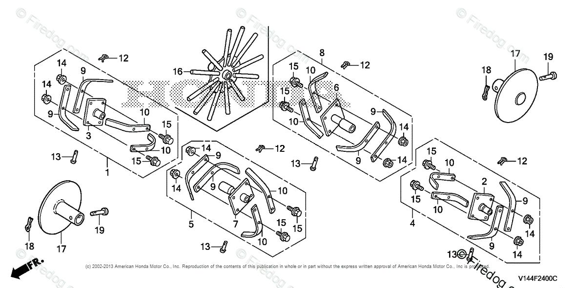 Honda Power Equipment Rototiller F220K1 AT ROTOTILLER, JPN