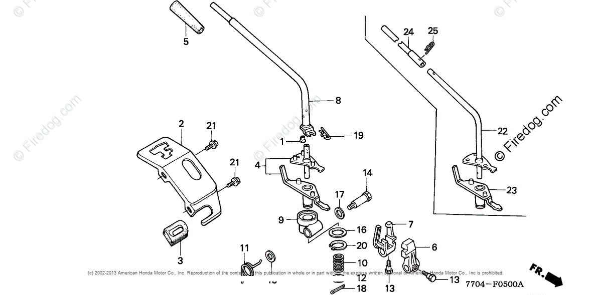Honda Power Equipment Rototiller FR600 AC/B ROTOTILLER