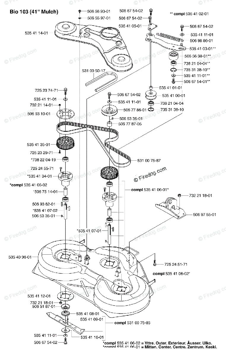 Husqvarna Ride Mower Rider 16 (USA) (2002-02) OEM Parts