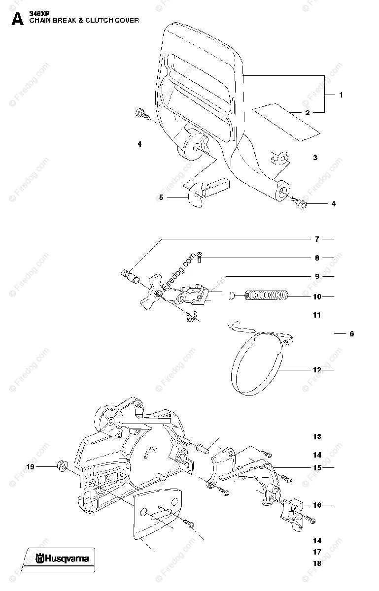 Husqvarna CHAIN SAWS 346XP (2011-01) OEM Parts Diagram for