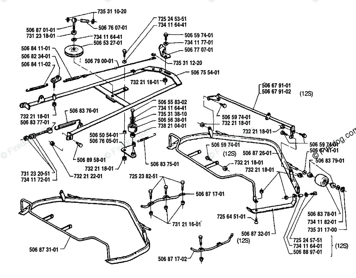 Husqvarna Ride Mower Rider 970 12 S (1992-03) OEM Parts