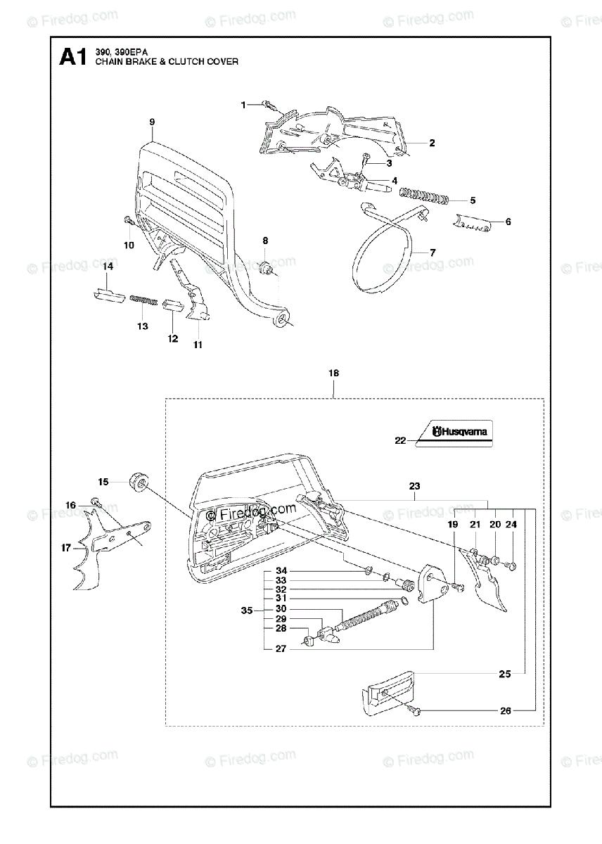 Husqvarna CHAIN SAWS 390 (2013-09) OEM Parts Diagram for