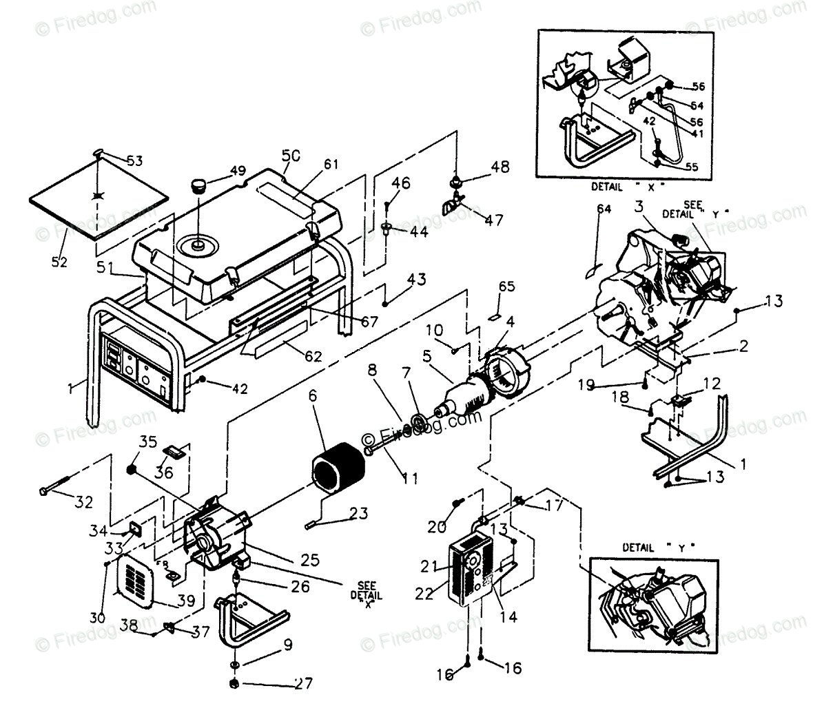 Portable Generator Part Diagram