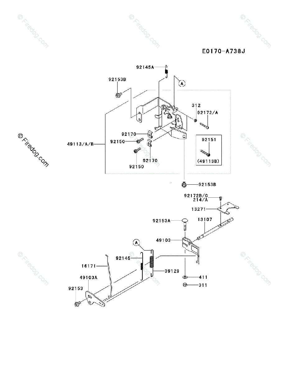 Kawasaki 4 Stroke Engine FR651V OEM Parts Diagram for