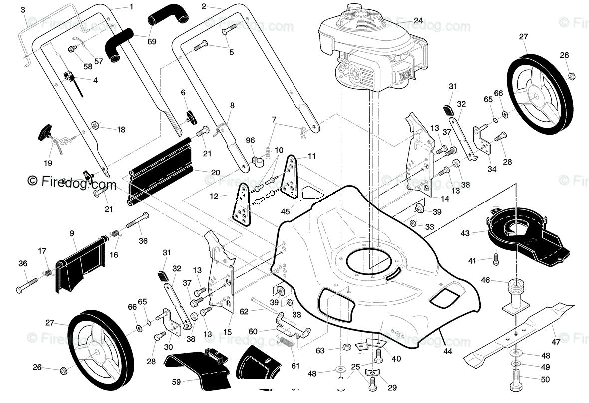 Husqvarna Walk Mower 5521 CHV (96143000106) (2006-12) OEM