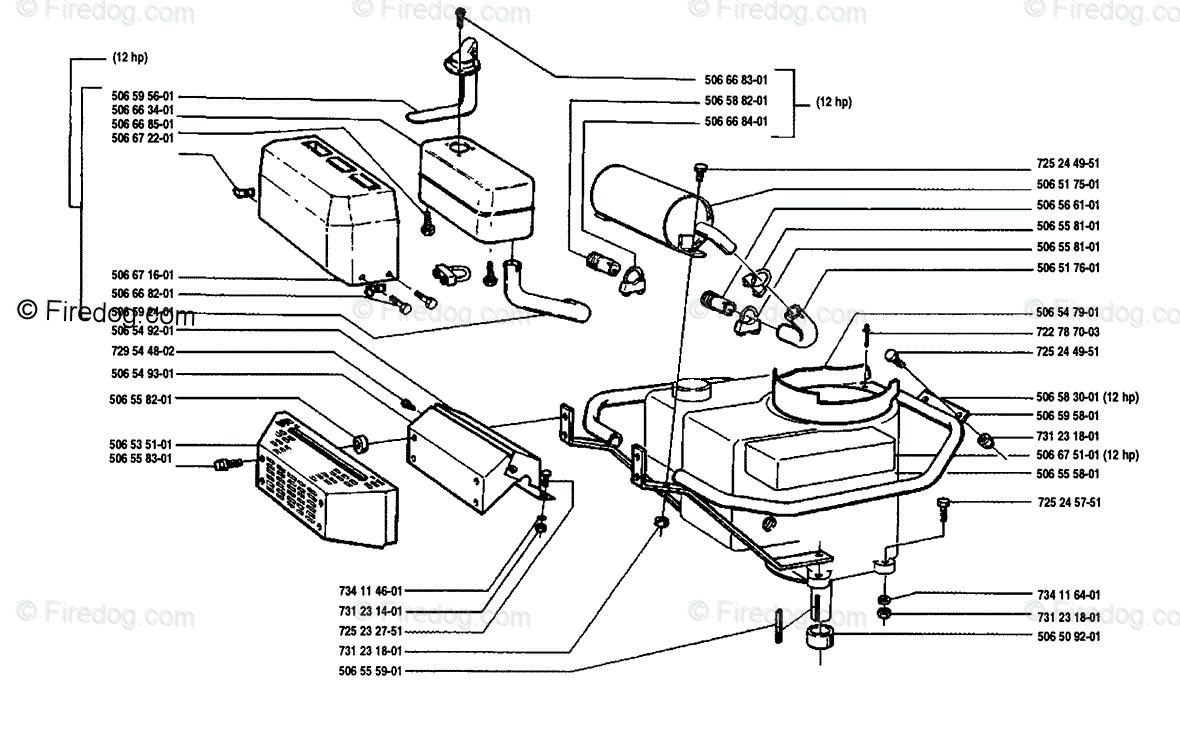 Husqvarna Ride Mower Rider 850 8 (1989-02) OEM Parts