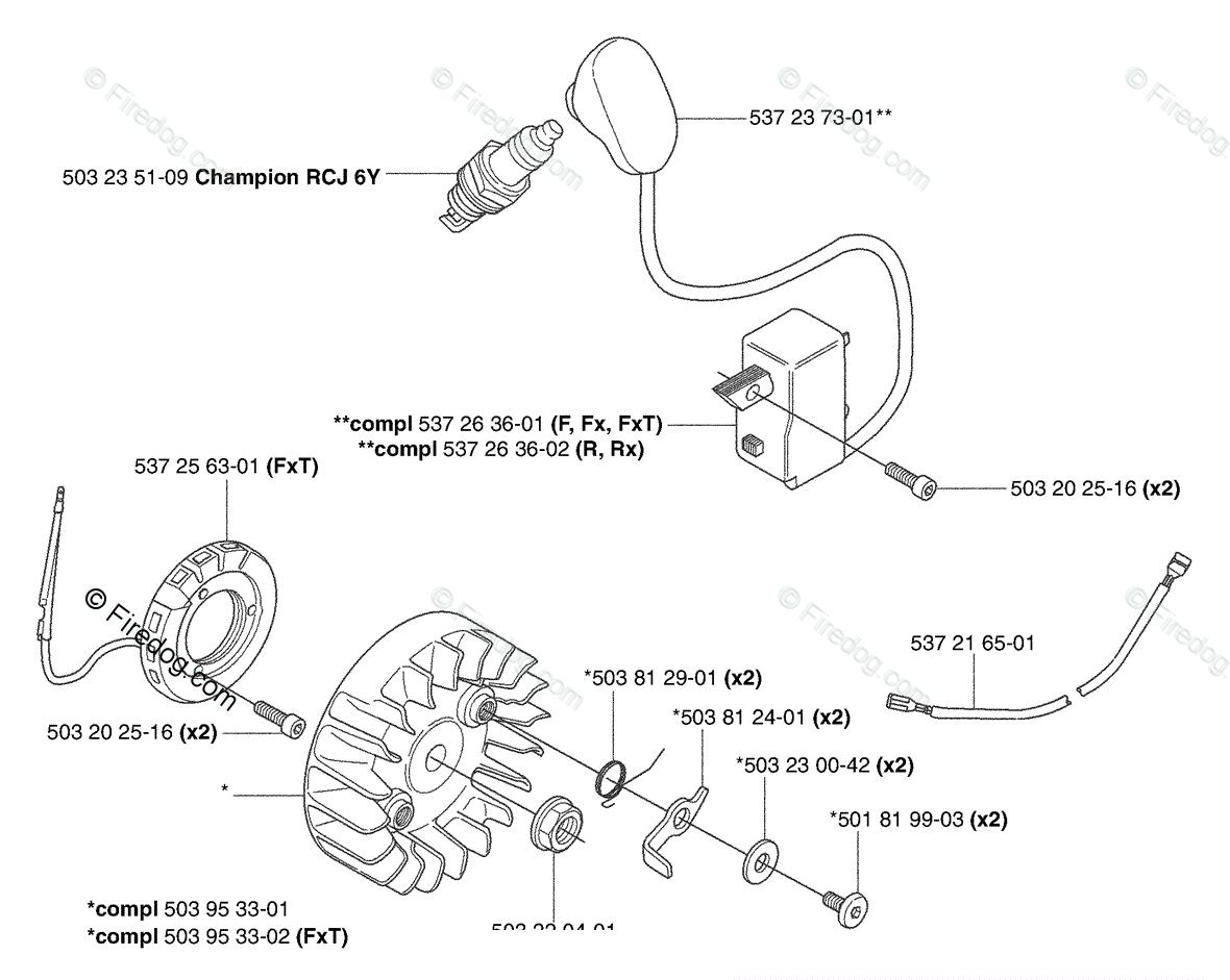 Husqvarna Clearing Saw 343 F (2003-05) OEM Parts Diagram