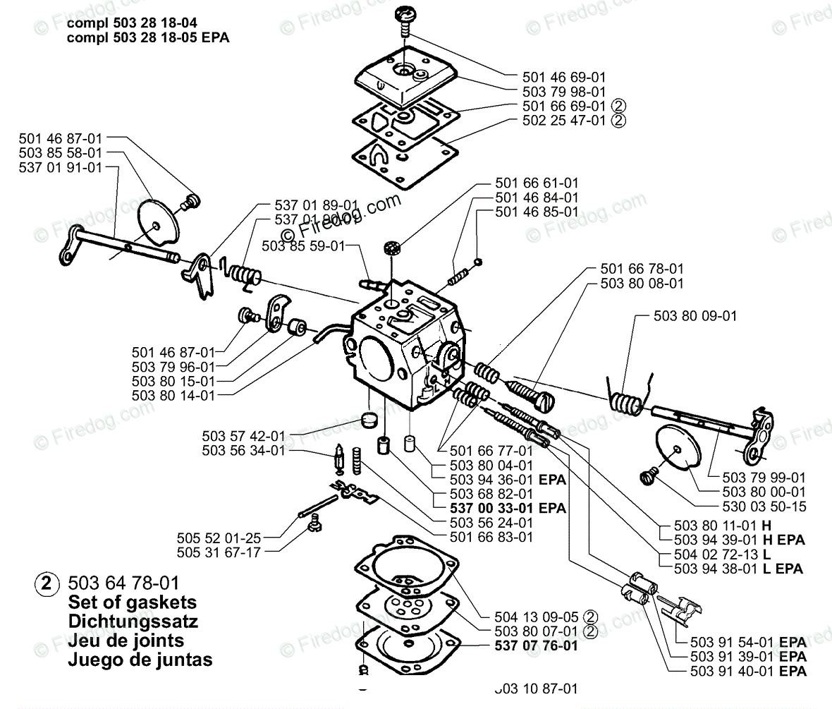 Husqvarna Chain Saw 372 Epa 11 Oem Parts Diagram