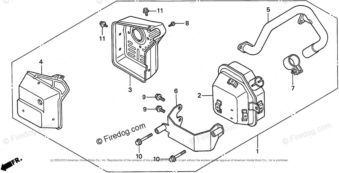 Honda Engines Engine GX OEM Parts Diagram for MUFFLER (3