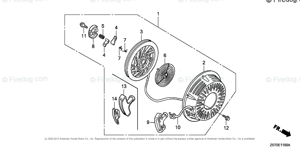 Honda Engines Engine GX OEM Parts Diagram for RECOIL