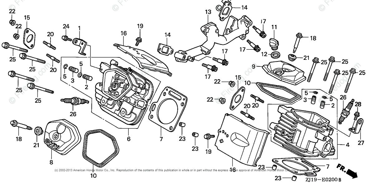 Honda Engines Engine GX OEM Parts Diagram for Cylinder