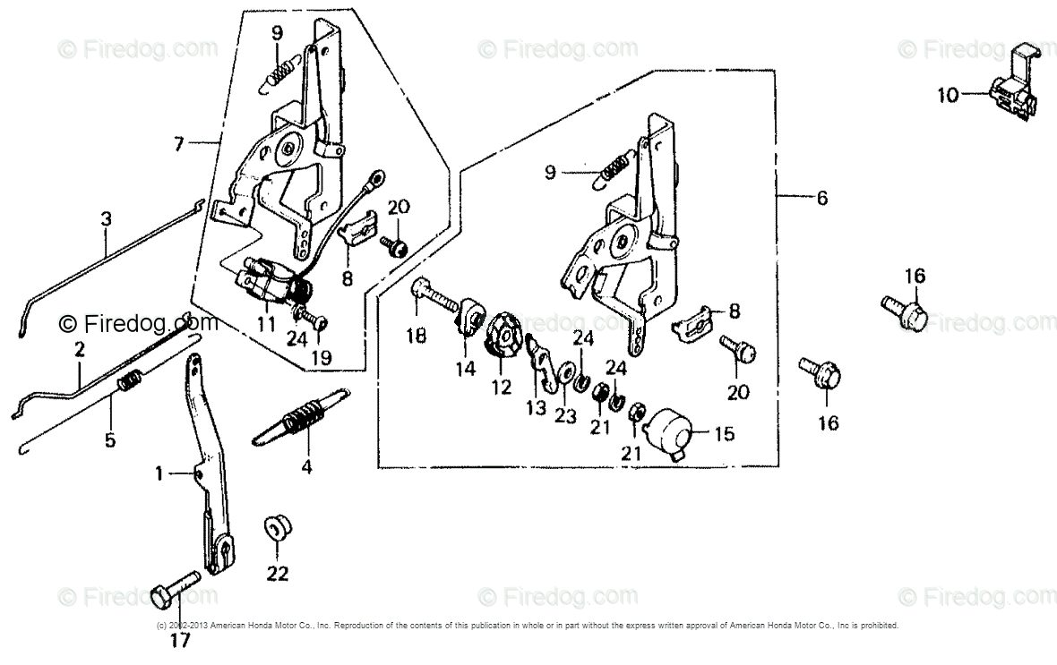 hight resolution of honda engines engine gv oem parts diagram for control lever governor arm firedog com