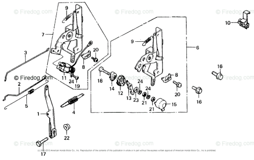 small resolution of honda engines engine gv oem parts diagram for control lever governor arm firedog com