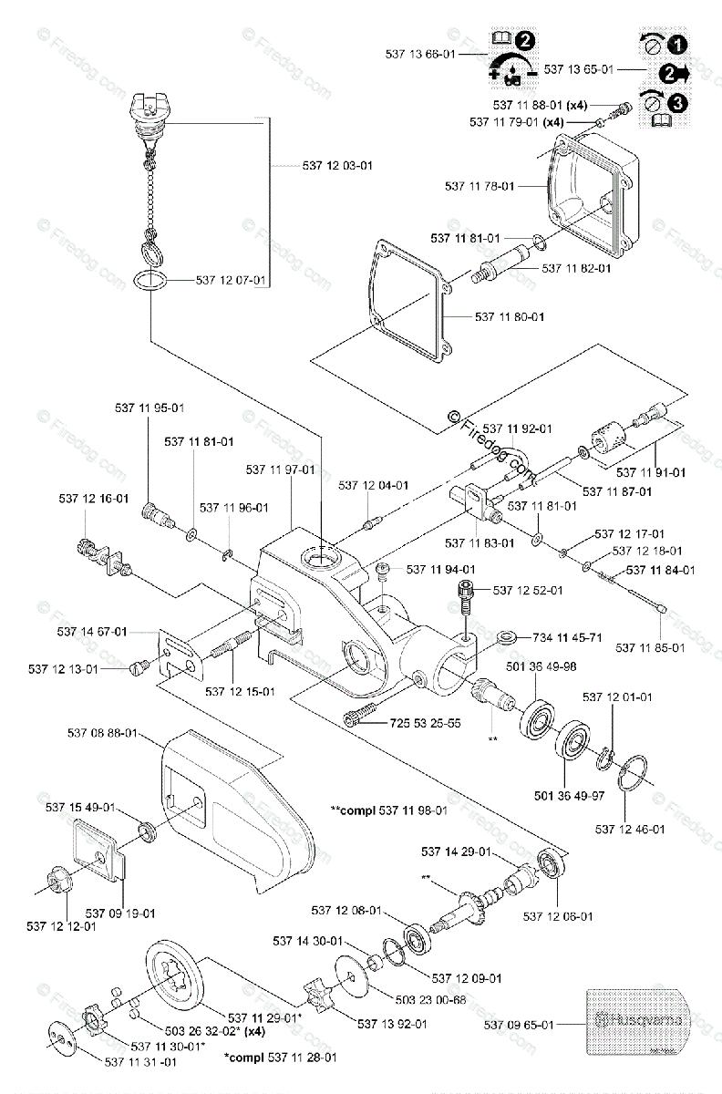 Husqvarna Pole Saw 326 P4 X-Series (2001-09) OEM Parts