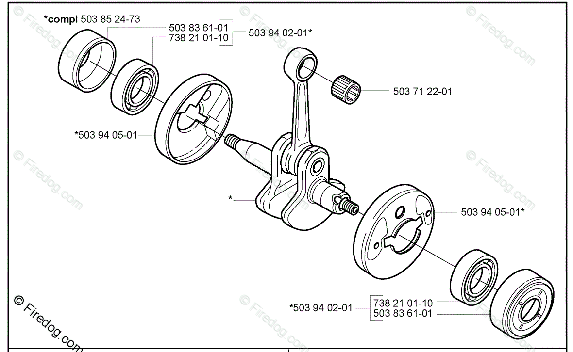 Husqvarna Trimmer 322 L (2000-10) OEM Parts Diagram for