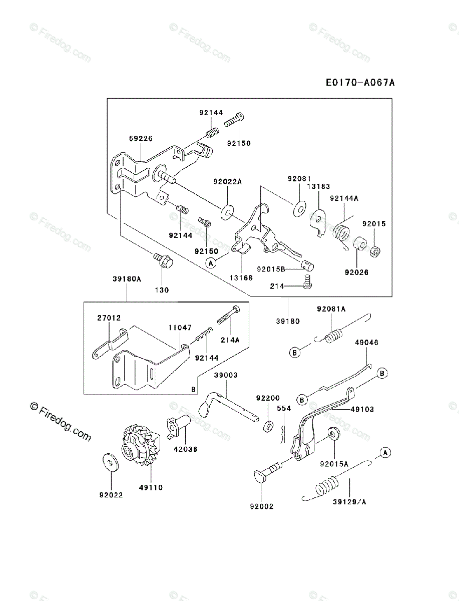 Kawasaki 4 Stroke Engine FE120D OEM Parts Diagram for