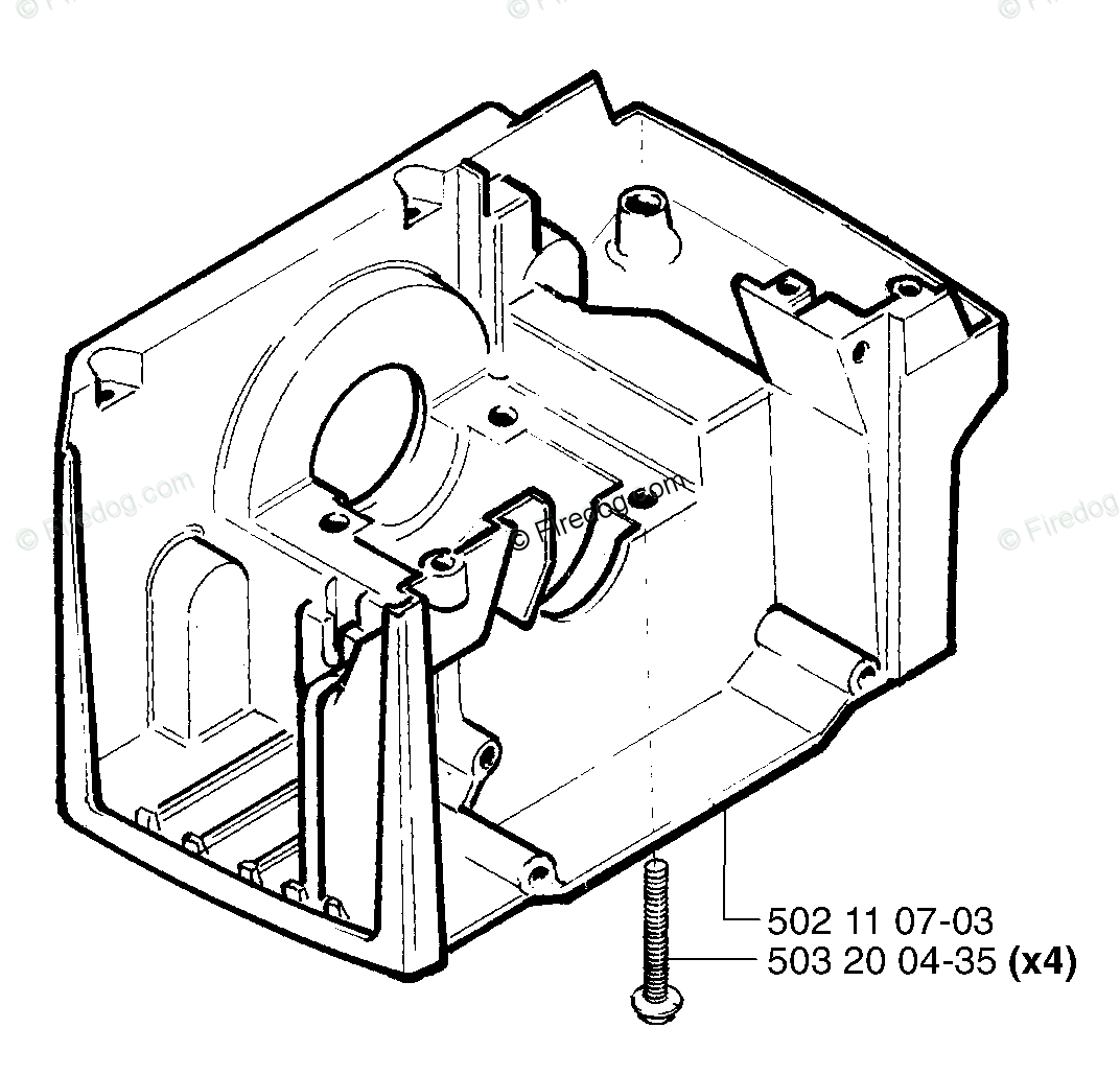 Husqvarna Clearing Saw 245 Epa 08 Oem Parts Diagram For Crankcase