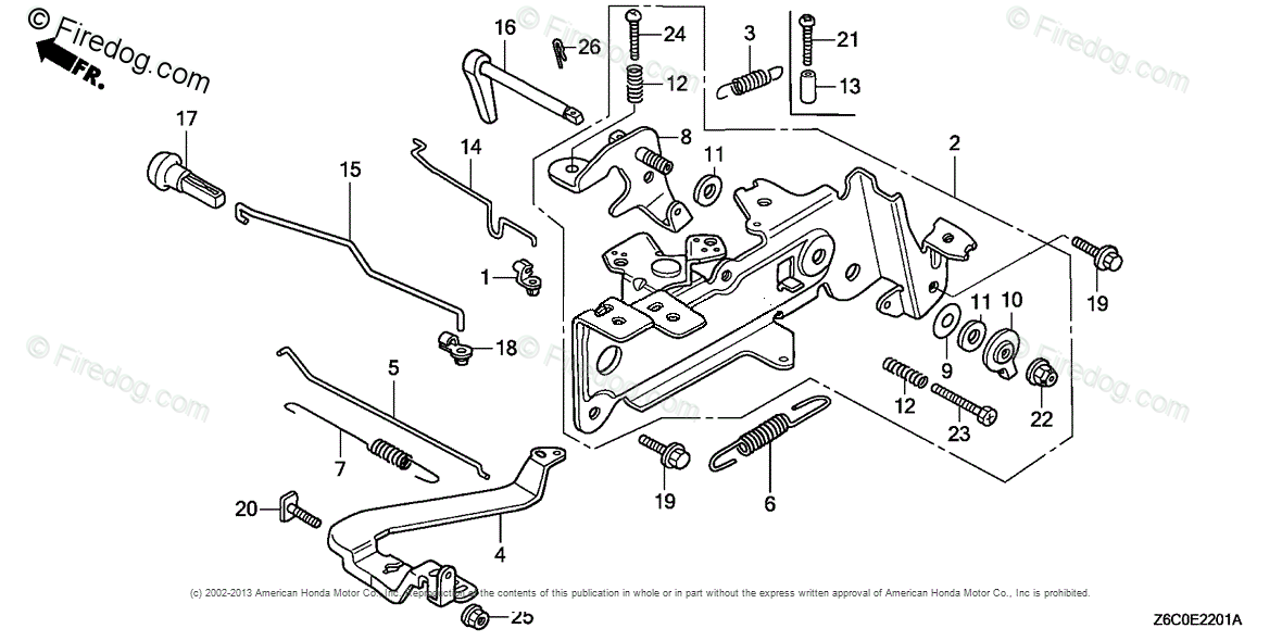 Honda Engines Engine GX OEM Parts Diagram for Control 2