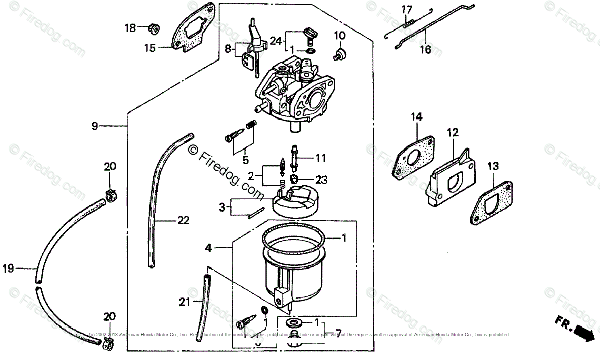 Diagram Of Honda Generator Parts Ex1000 A2 Generator Jpn Vin Ea4