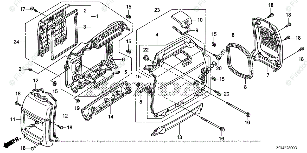Honda Power Equipment Generator EU2000I AN1 GENERATOR, JPN