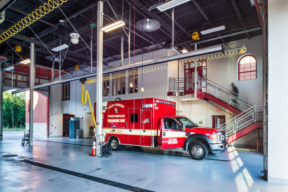 In Quarters Oak Creek WI Fire Station No 1  Fire