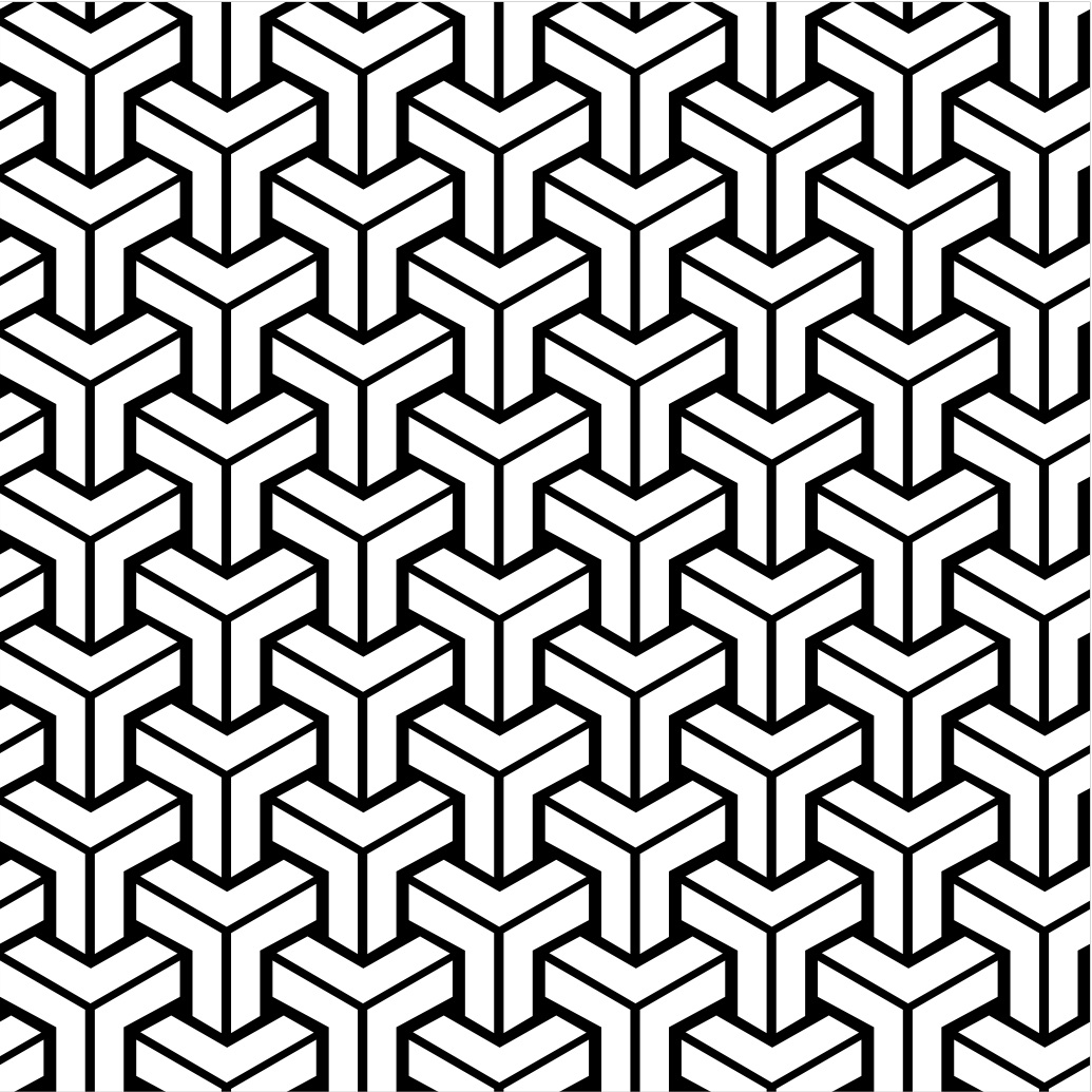 what is the name of the pattern used in this 3D pattern