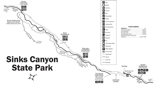 Sinks Canyon Natural Resource Council : Maps : Sinks