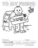 Color A Smile : Volunteer to Color : Instructions and