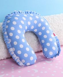 Babyhug Neck Support Pillow With Frill Blue