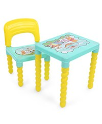Kisan Metal And Plastic Green Finish Lawn Chairs In Yellow ...