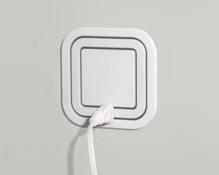 Розетка 360 градусов, позволяющая вставлять сразу несколько вилок дизайн, идея, креатив