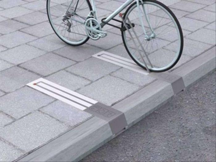 Велосипедные стойки, не занимающие места дизайн, идея, креатив