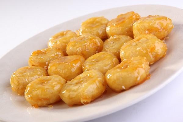 5. Жареные бананы в карамели еда, итальянская кухня, китайская кухня, сделай сам, тайская кухня, фритюр