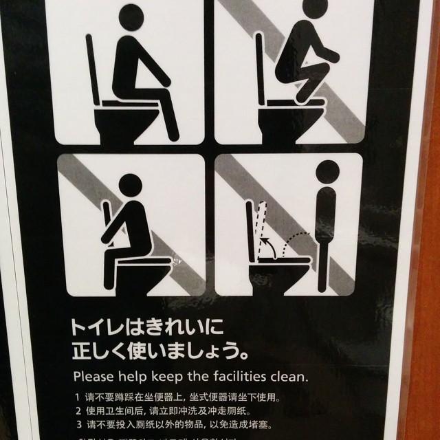 Такие вот правила поведения в туалете япония, японцы