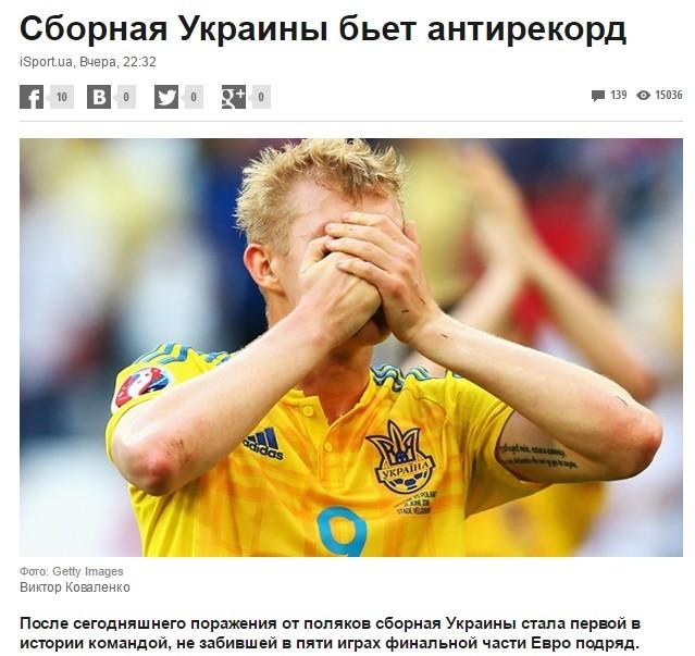Несколько рекордов сборная Украины все-таки установила Euro2016, евро2016, прикол, спорт, футбол, юмор