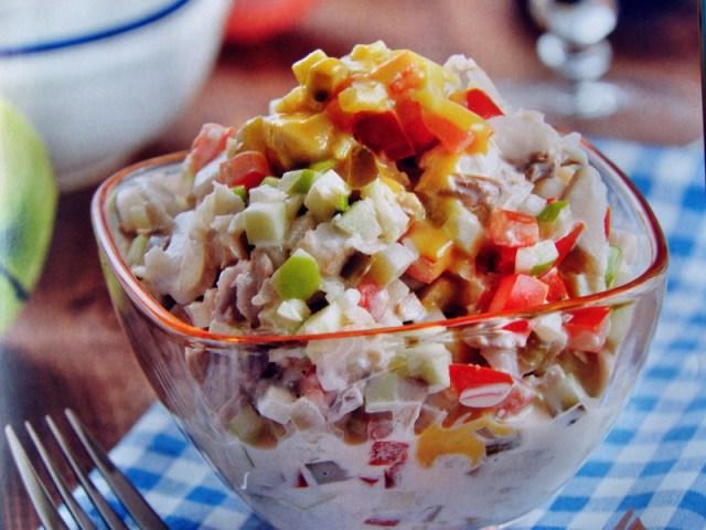 Копенгагенский салат еда, кухня, рыбные блюда