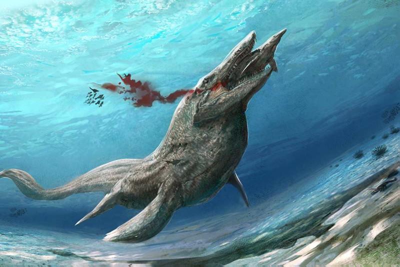 Тилозавры животные, море, ужас