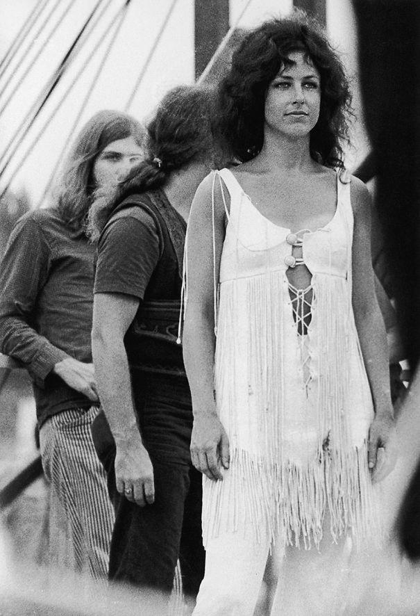 Певица и композитор Грейс Слик и рок-группа Jefferson Airplane вудсток, мода, хиппи, шестидесятые