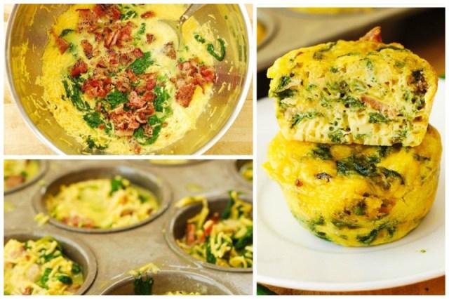 Очень удобная вещь для завтраков - форма для выпечки кексов. Омлет - яйцо, молоко и в него добавляйте все, что душе угодно - зелень, сыр, ветчину, овощи, замешали и выпекли Просто, вкусно, еда, завтраки