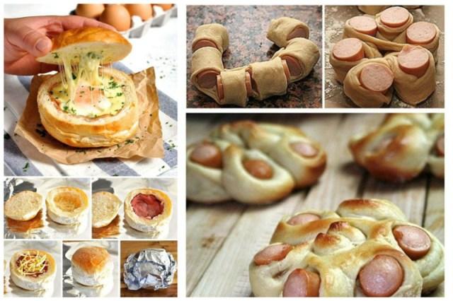 В булочке с ветчиной, а вот еще как можно преобразить сосиску Просто, вкусно, еда, завтраки