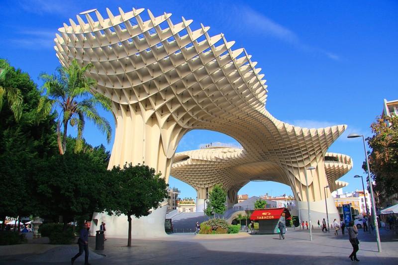Невероятный комплекс Метрополь Парасоль, расположенный в  Севильи архитектура, интересное, испания