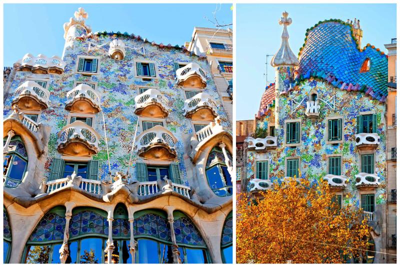 Ну и конечно же шедевр Антонио Гауди -  Дом Бальо в Барселоне архитектура, интересное, испания