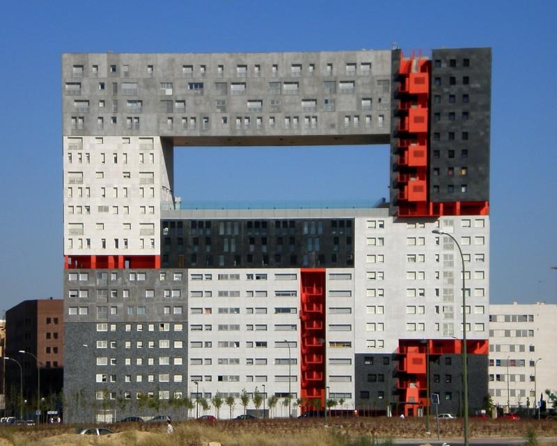 Дом-панорама Edificio Mirador, Мадрид архитектура, интересное, испания