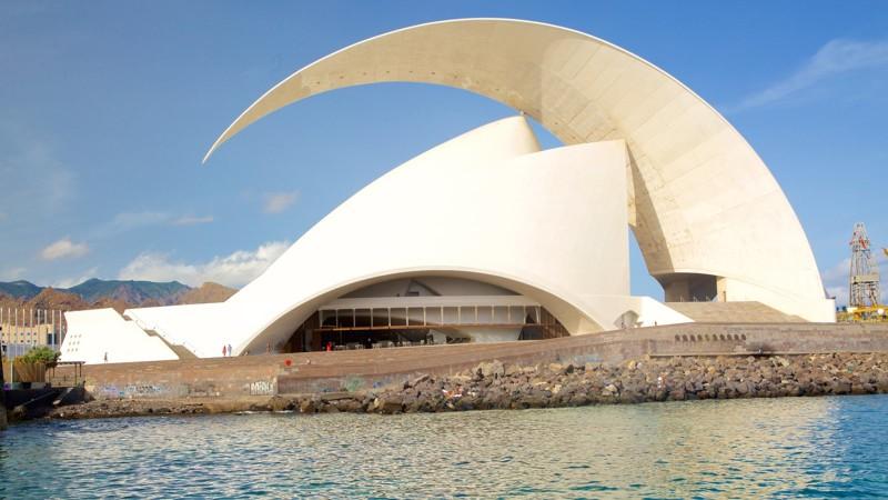 Космическое здание Концертного холла Тенерифе  архитектура, интересное, испания