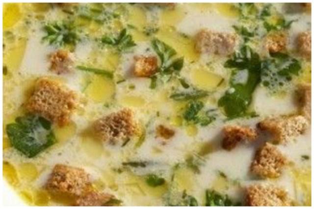 Сырный суп с шампиньонами и сухариками вкусно, интересное, рецепты, супы