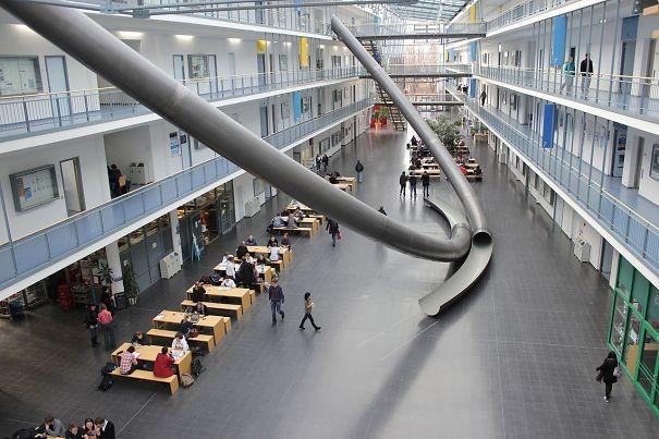 Горки в Техническом Университете, Мюнхен, Германия гениально, изобретения, подборка, студенты, школа
