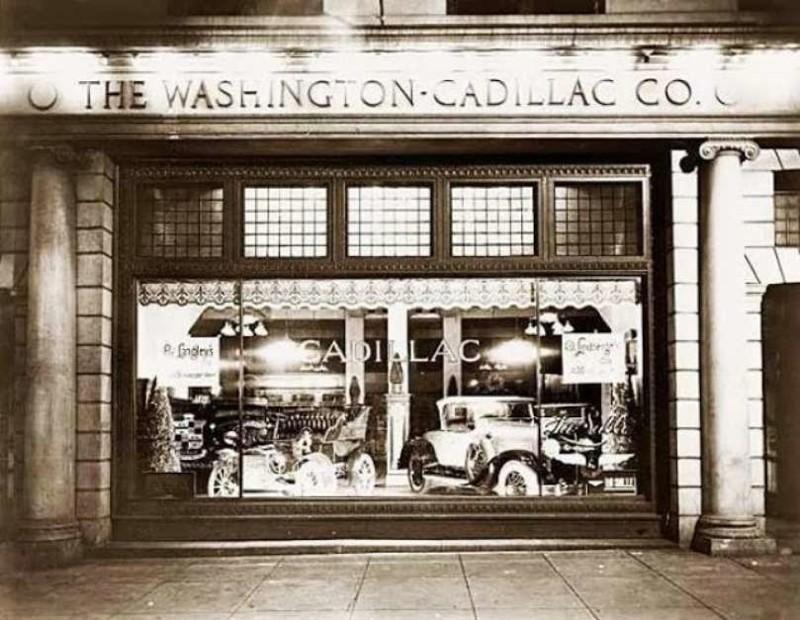 Первый в Нью-Йорке магазин по продаже автомобилей Cadillac.  история, события, фото