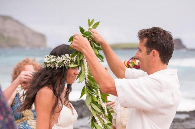 Гавайи в мире, жених, люди, невеста, обряд, одежда, свадьба, традиция